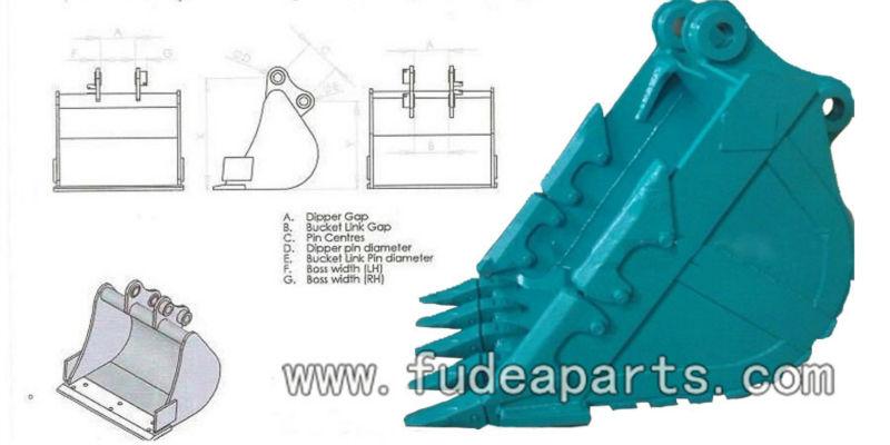 0.8CBM Excavator SK200 Rocky Bucket for Kobelco