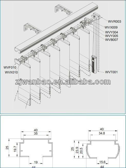 Partes de una persiana horizontal