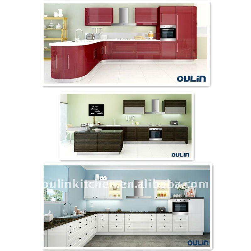 Modern Hot Sale Modular Small Wood Kitchen Cabinets China