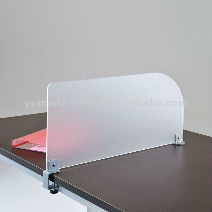 Japanese High-Quality Frosted Acrylic Office Workstation Partition Desk Divider