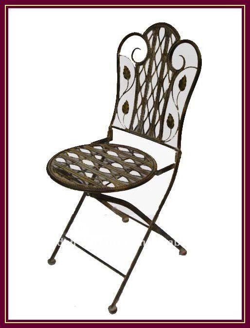 Chaise Chic Forgé Fer Extérieur Forgé Pliante Buy chaises Jardin Shabby Patio En chaise Antique Décor Forgé mN0v8nwO
