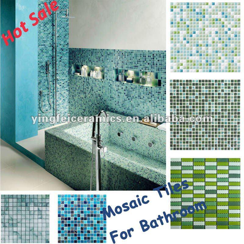 vari colori e formati peril bagnoin mosaico piastrelle-piastrelle ...