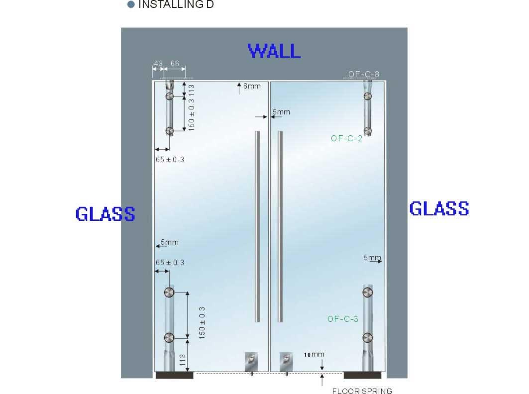 De alta calidad de seguridad templado puertas de vidrio for Puertas de cristal templado