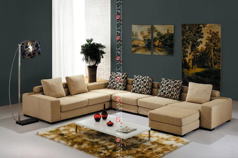 7 plazas sofá conjunto, nuevo modelo de muebles de sala de estar ...
