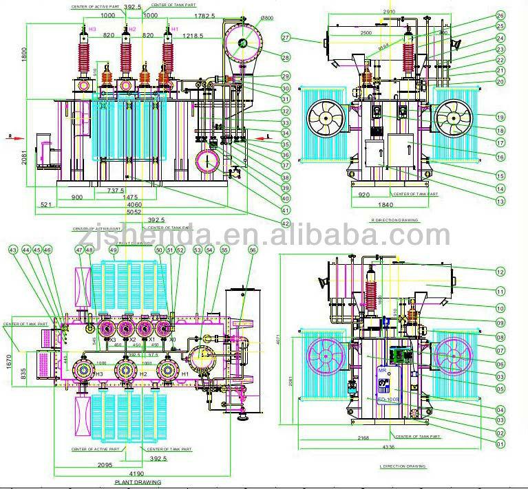 3 phase electric power transformer 11kv 33kv 66kv 69kv 132kv 230kv