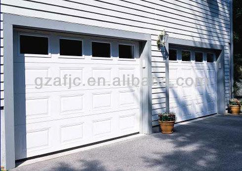 Guangzhou Glas Sektionaltor, Weiße Farbe Garage Türen, Sandwichplatte Stahl  Garagentor