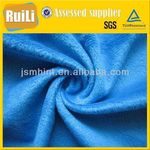 super soft 100% polyester comfortable tricot short velvet