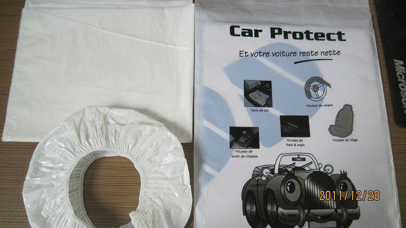 Pe Disposable Car Clean Kits Seat Cover Paper Floor Mat