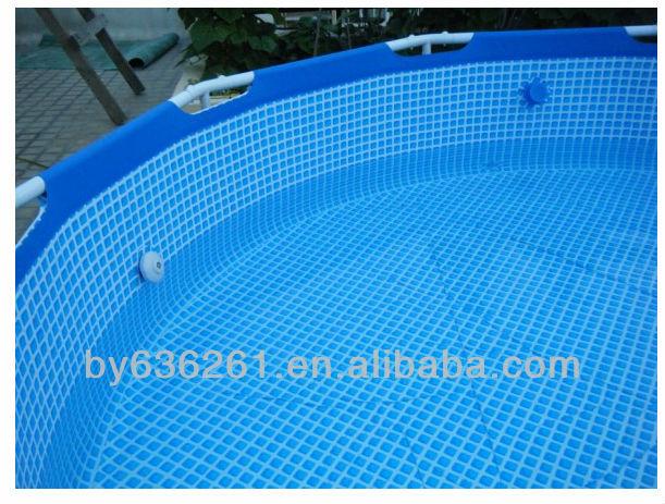 Familie Größe Über Boden PVC Intex Runde Metallrahmen Kunststoff  Schwimmbecken