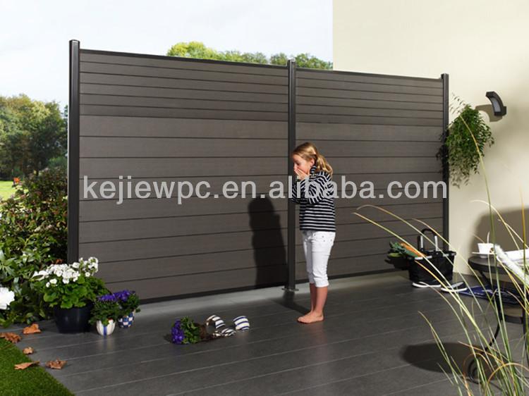 Wasserdicht Wpc Boards Aluminium Rahmen Zaun Fur Garten