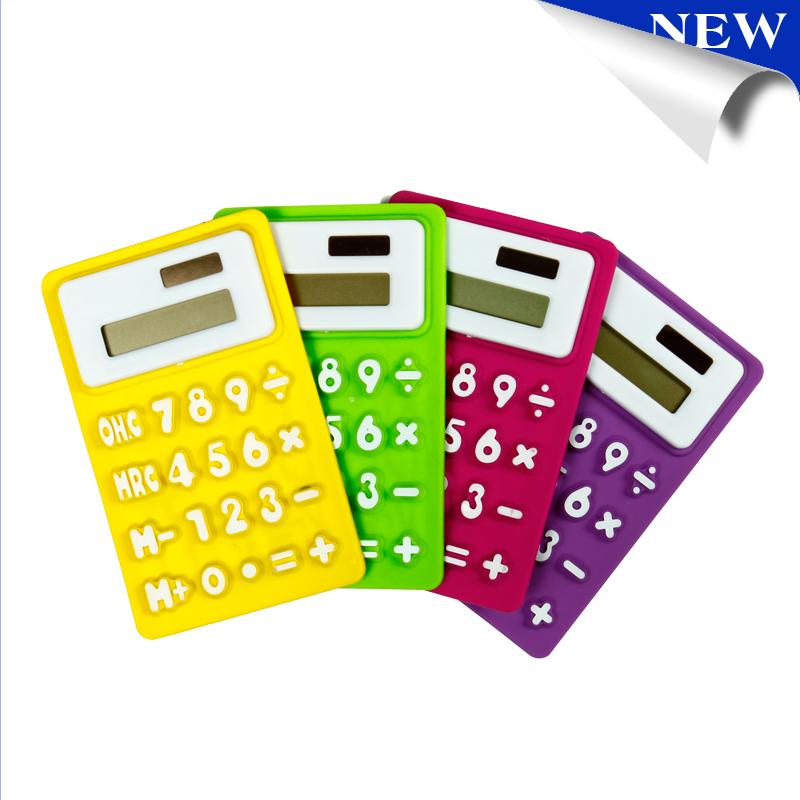 New Silicone Calculator Solar Energy Soft keyboard...