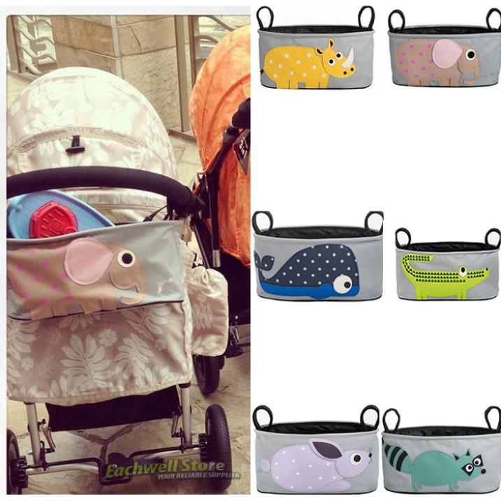 6 Type Cartoon Animal Pram Stroller Organizer Bag ...