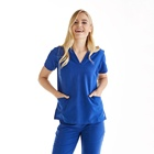 women new style hospital doctor uniform surgical scrubs suit top
