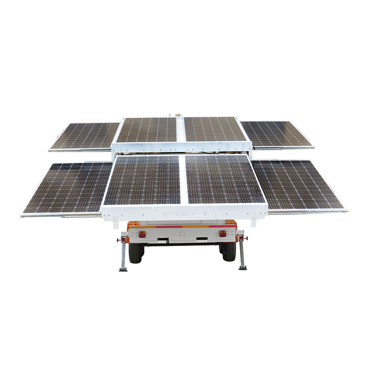 Mobile Trailer  Generator  Hydric Mast Hydraulic  Solar Power System Station For Mining Construction