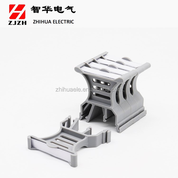 ZHIHUA Hot sale high quality din rail terminal block JHZ1-B2  Electrical Screw Marking terminal Block Connector