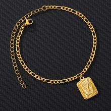 Оригинальный браслет на лодыжку для женщин, нержавеющая сталь, цепочка на ногу с буквами, Золотой мужской браслет на лодыжке, A-Z, алфавит, нож...(Китай)