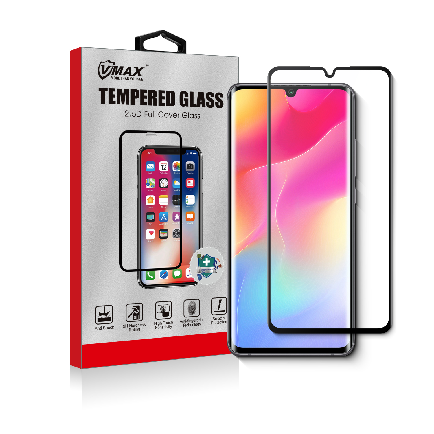 HD Clear Tempered Glass for xiaomi note 10 Screen Protector Full Cover 9H Hardness Slim Screen Protector for xiaomi note 10