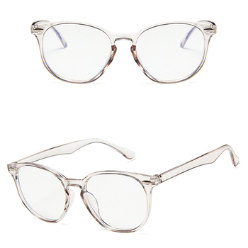 Wholesale Ready Stock Vintage Plastic Clear Blue Block Glasses Frame Cheap Spectacle Frames