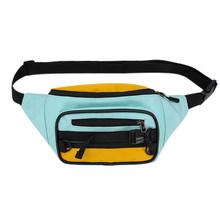 Холщовая поясная сумка для женщин, хит, цветная поясная сумка на молнии, Спортивная уличная нагрудная сумка, винтажная нагрудная сумка для ж...(Китай)