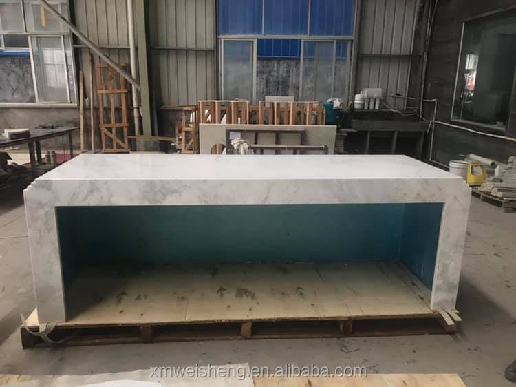 2019 Natural stone marble kitchen bar restaurant buffet counter prices