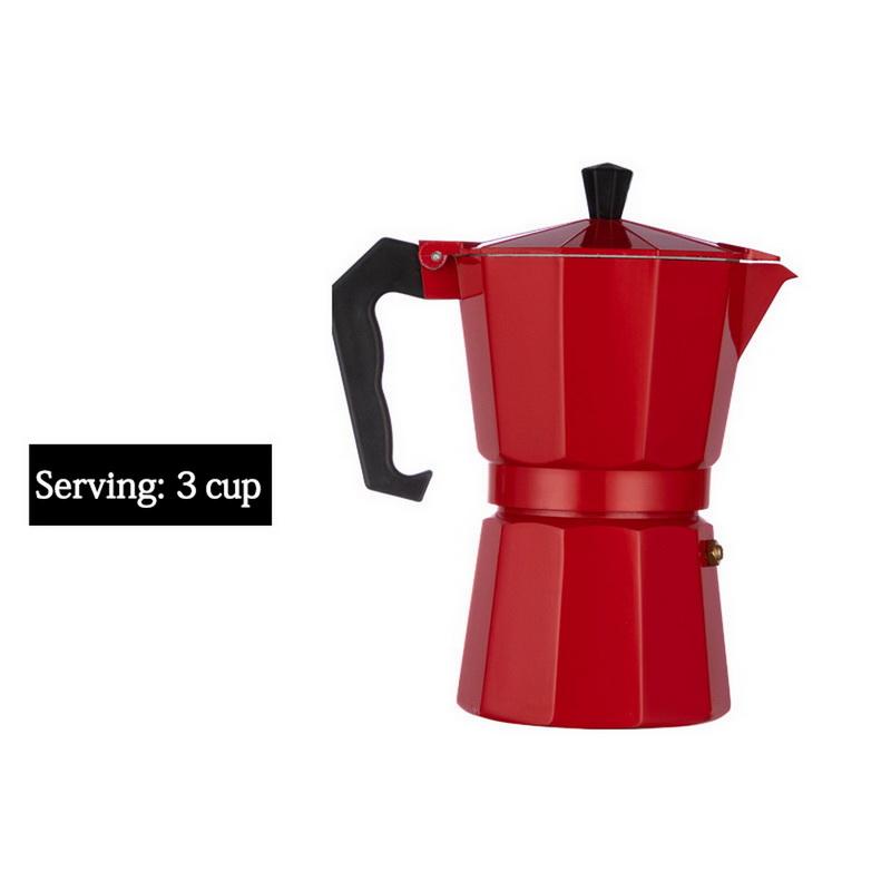 Duolvqi алюминиевая Кофеварка прочная Moka Cafeteira Expresso Percolator Pot практичный Moka Coffee Pot 50/100/150/300/450/600 мл(Китай)