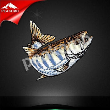 OEM high quality cheaper Hot sale fish Embroidery Patch For Clothes