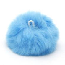 10 шт. помпон для волос для ручных брелков и вязаной шапочки шапки DIY из натурального меха помпон, 10Yc10428(Китай)