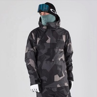 2020 Wholesale Hot Products Mens Color block Ski Stormproof Camo Padding Snow Coats with Inside Power Mesh Pocket