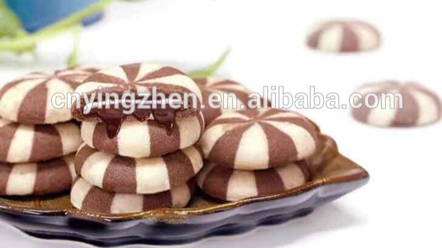 Automatic Nutella Stuffed Chocolate Cream Cookies Machine