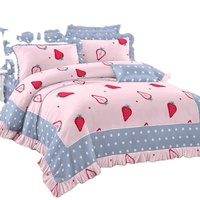 custom 100% polyester microfiber printing zipper kawaii bedding set winter