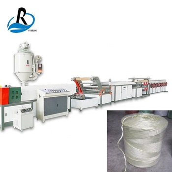 Outstanding quality new pp agriculture packing baler rope twine line for production of polypropylene pp rope making machine