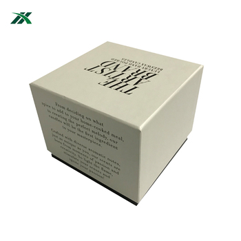 elegant custom glass candle jar packing paper box