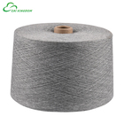 Leading manufacturer conical cone waxed 100% recycled cotton polyester blended yarn for knitting socks