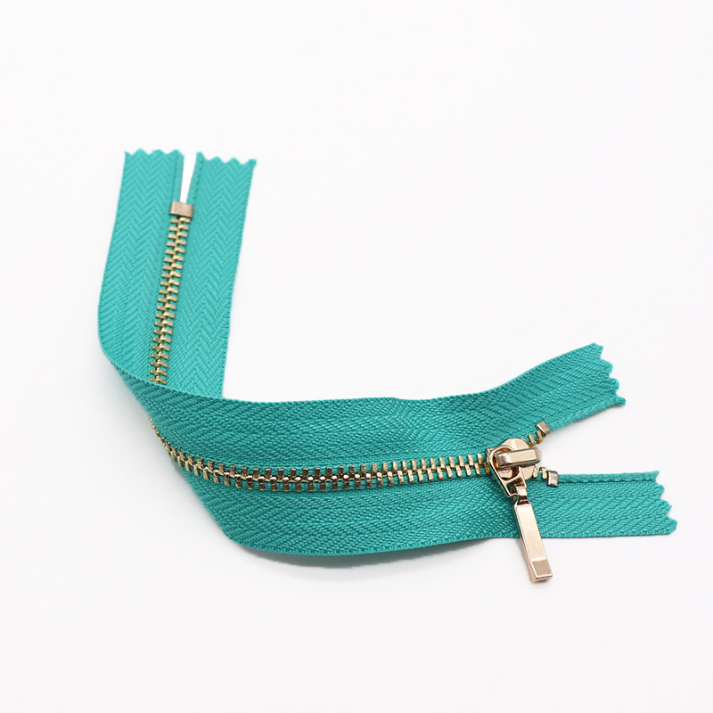 metal zipper #3 metal teeth small zipper close end zipper for luggage bags and garments