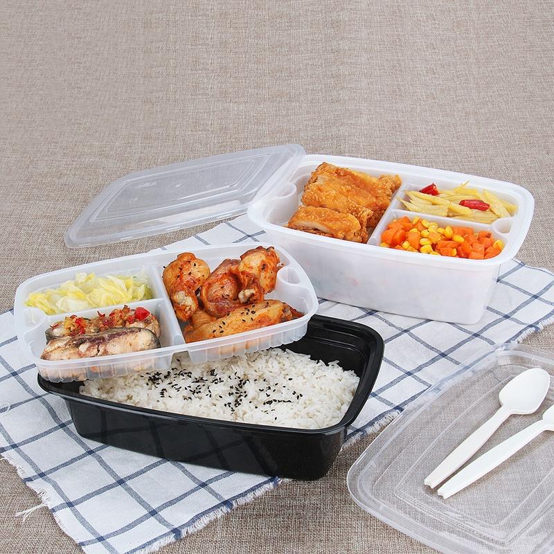 ארוחת prep מכולות מזון אחסון 1 תא 12 oz