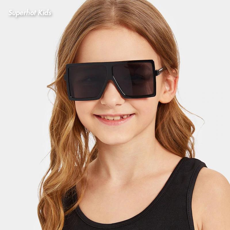 Superhot Kids Eyewear 10067 Boys Girls Small Size Square UV400 Shades Sunglasses for Children