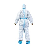 2020 Coverall hazmat Suit Protects Disposable Hospital Safety Full Body Chemical Protection Isolation Clothing