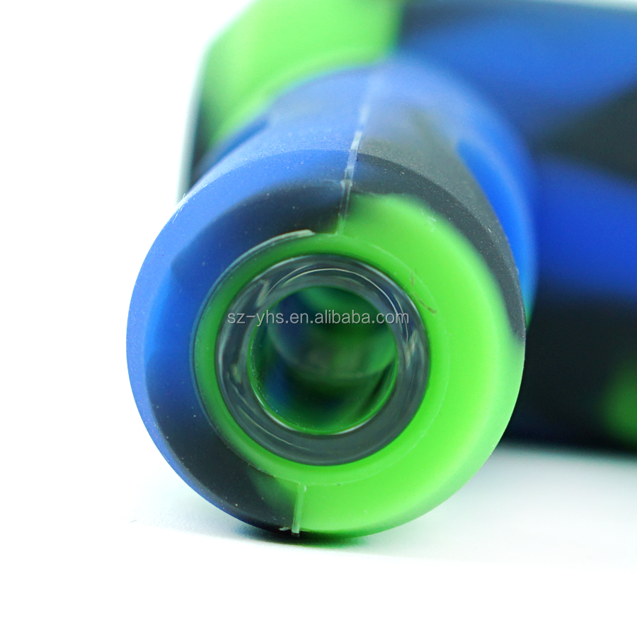 YHS New 4.1'' Titan hand silicone water pipe tobacco pipe wholesale factory price glass pipes smoking accessories