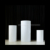 LG20190702-11 hot selling set white acrylic round plinth for baby birthday party decoration