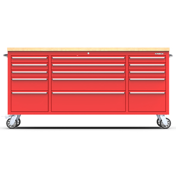 Kinbox 72 inch US General Tool Box with 15 Drawer Stainless Steel tool trolley