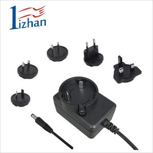 Interchangeable plug 12v 0.5a 6W wall mount switch mode power supply universal power adapter travel ac adaptor