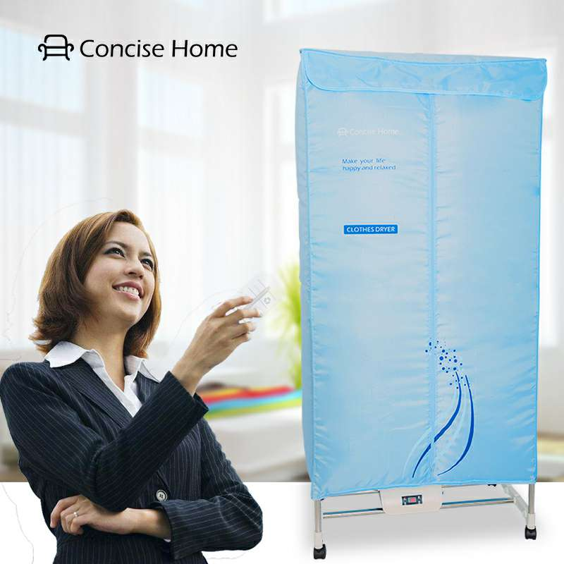 Concise Home 1000W Electric 15kg Double layer Stainless Steel Tube Home and Hotel Use Clothes Dryer Machine
