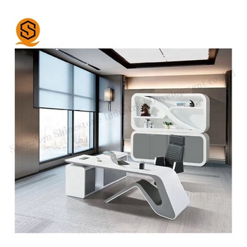 China Manufacturer Modern Modular Office Furniture Boss Workstation,solid surface office equipment