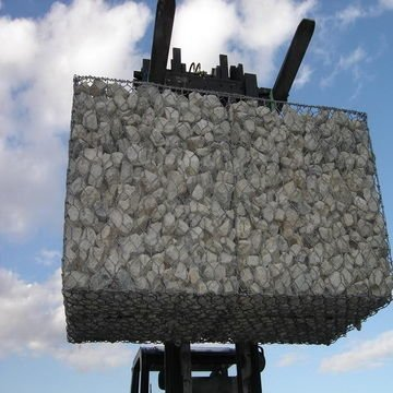 flexible plain woven floding insulated gabion box for river bank and water erosion