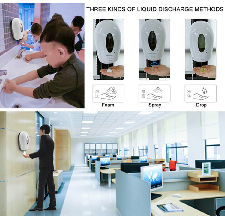 New Design Foam Soap Dispenser 1000ML Refillable Bottle Automatic Hand Sanitizer Dispenser