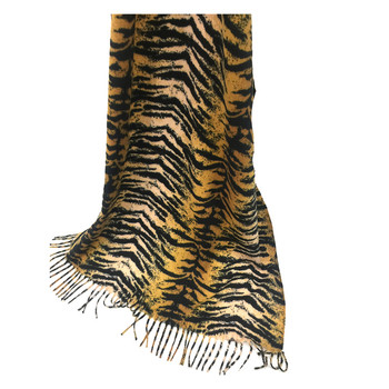 Best-selling tiger marking women oversized scarf shawl with tassel