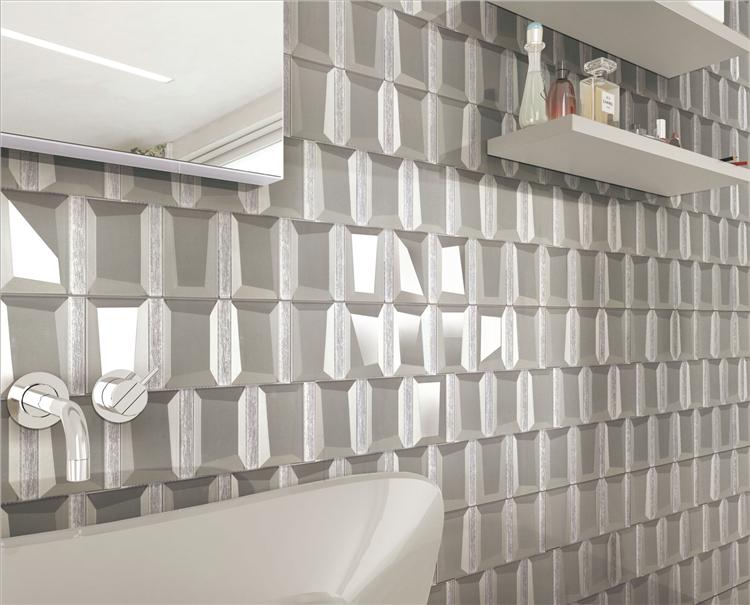 Mosaic Silver Mirror Glass Wall India Mosaic Tiles