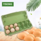 OEM paper pulp egg tray biodegradable paper 12 egg box carton pulp packaging egg tray