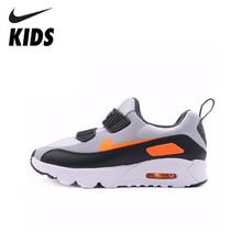Nike Air Max 90 детская оригинальная детская обувь весна и осень с воздушной подушкой удобные кроссовки #881927-003(Китай)