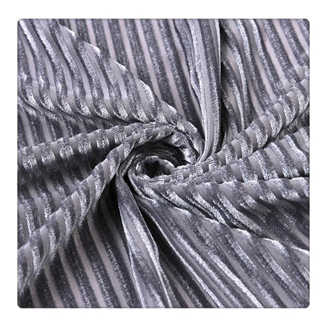 high quality stretch striped velvet fabric for clothes